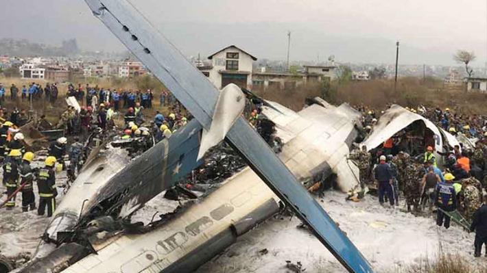 विमान दुर्घटना, २३ को मृत्यु