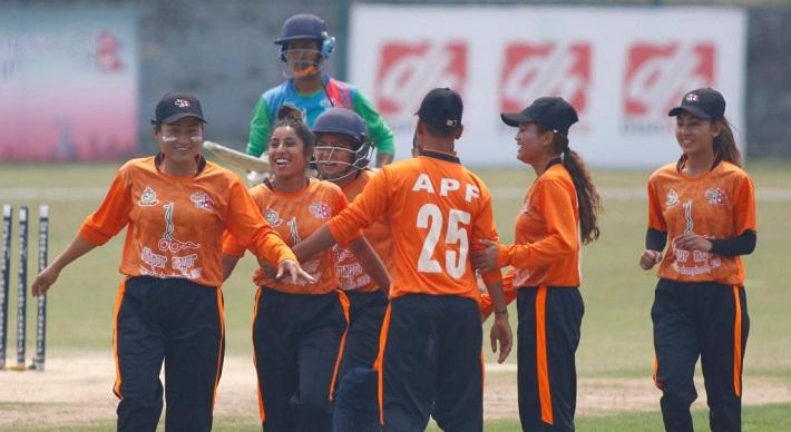 ललितपुर मेयर कप : महिला क्रिकेटमा एपीएफ र ललितपुर विजयी
