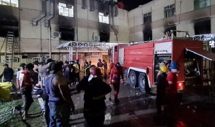 इराक कोरोना अस्पतालमा अक्सिजन ट्याङ्क विस्फोट, २३ जनाको मृत्यु