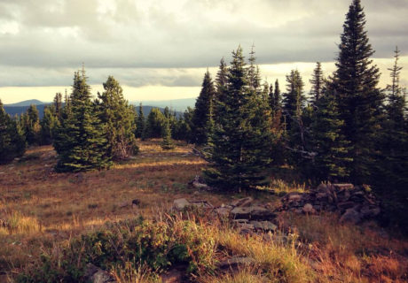 Copper butte on the Kettle Crest Trail