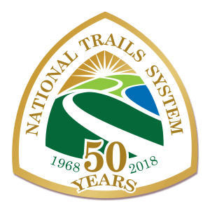 National Trails Anniversary Sticker