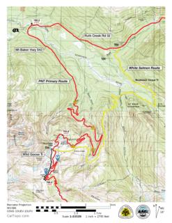 White Salmon Route Map