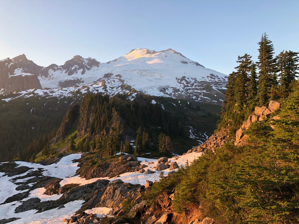 Mt Baker at Sunset. Photo by Griggs Domler.