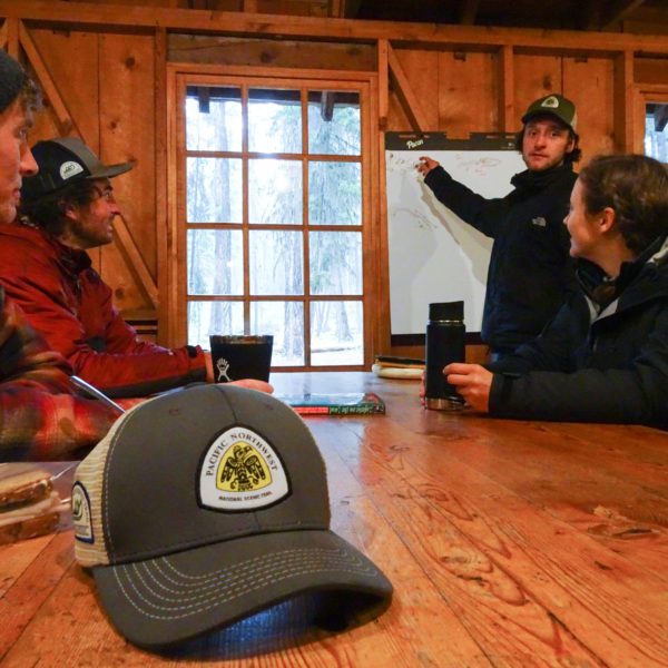 Crew Leader, Kameron Walton in his fifth season with PNTA, gives classroom instruction.