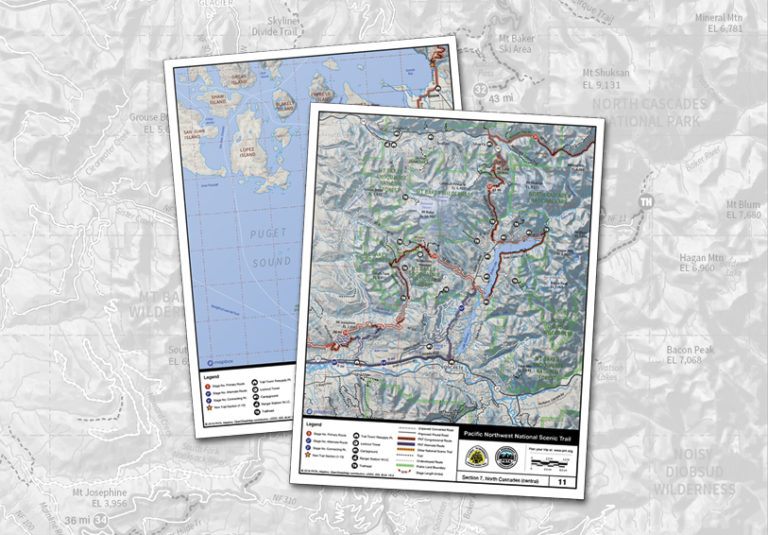 Maps of the Pacific Northwest National Scenic Trail I Map Washington State on route 90 map washington, interstate 90 map washington, seattle map washington, i-405 map washington, i-5 map washington, highway 20 map washington, i-90 wamap, interstate 5 map washington, i90 map washington,