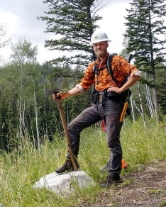 Sean Miller, a seasoned crew leader who's worked trails from Florida to New York to Nevada, led the on-the-ground effort to log-out the Boundary Trail. Photo by Carly Tryon.
