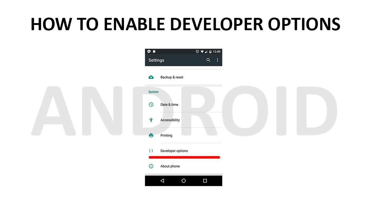"How to enable ""Developer options"" on android phones"