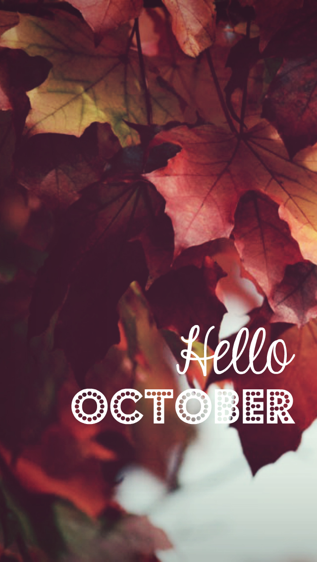 hello october image fall leaves