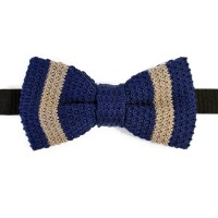 Knitted cotton bowtie. Made in Italy.