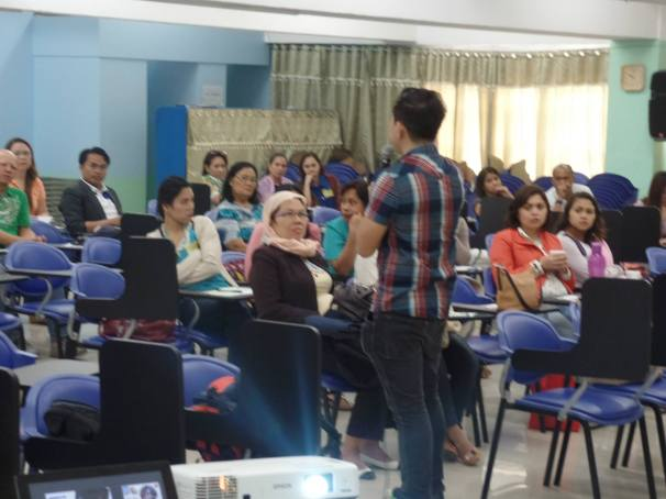 The VoiceMaster motivating the teachers of Bukidnon State University