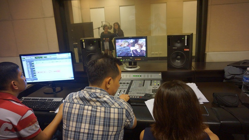 The VoiceMaster Directing the Dubbing of A Little Bit of Heaven