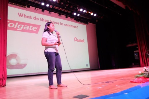 Voice Care Queen talks about Personal Branding in Trace College Personality Development Seminar