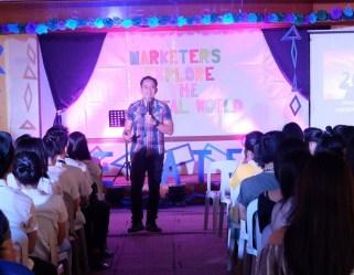 Filipino motivational speaker inspires Marketing Management students of Rizal Technological University