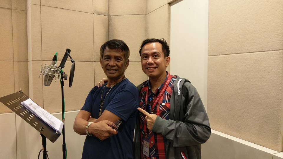 with Father of Filipino Dubbing and fellow Voiceworx Instructor Danny Mandia