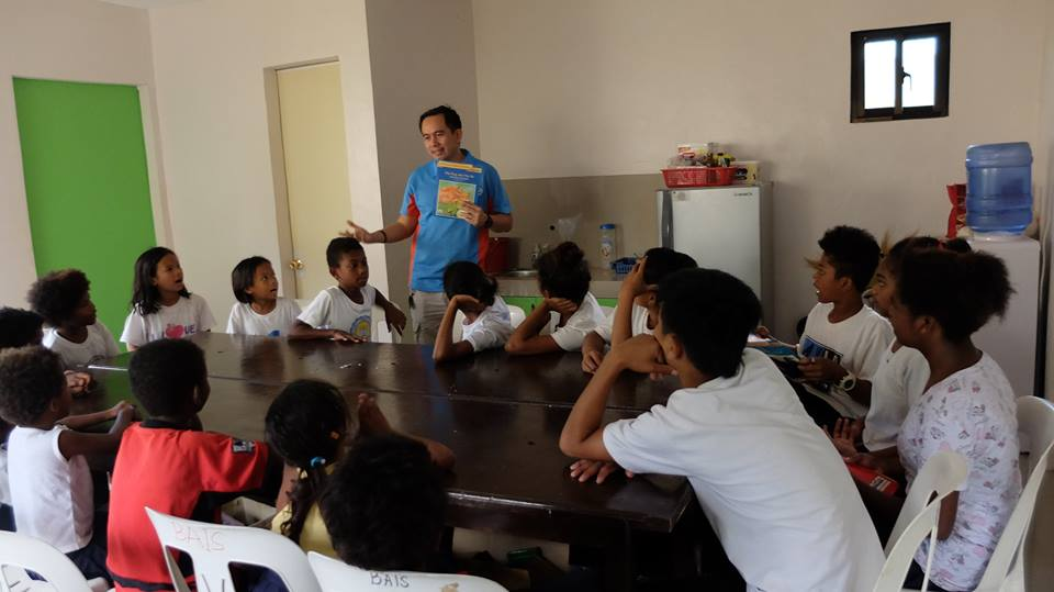 Storytelling with the students