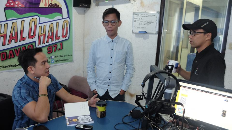 "The VoiceMaster with Creativoices Mindanao – Dino ""DJ Digong Guantes"" Divino and Mon ""DJ Mon"" Pillatura of Halo Halo FM Davao"