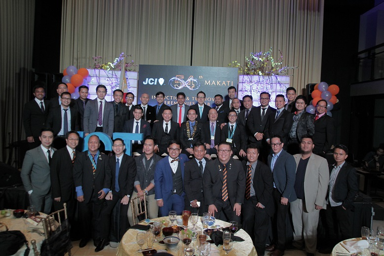 The New JCI Makati members and Board of Directors with JCI Philippines National Board