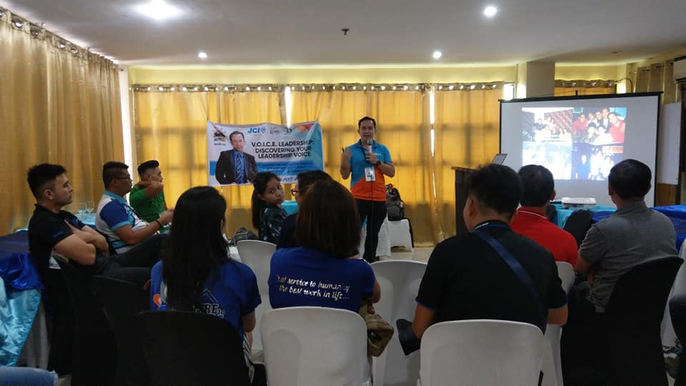 The VoiceMaster speaks about VOICE Leadership at the 2018 JCI National Convention