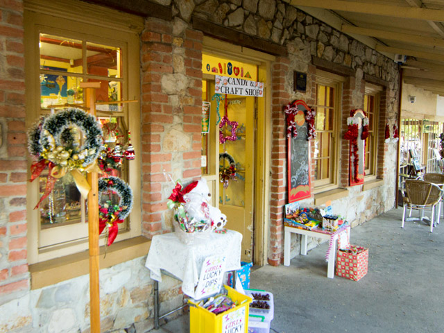 The window displays and store fronts were all decked up. Photo credit: Ian Lee