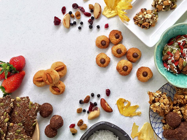 Healthy doesn't have to be boring! Nuts, seeds and fruits make for fun and delicious snacks any time! Photo credit: Amazin' Graze
