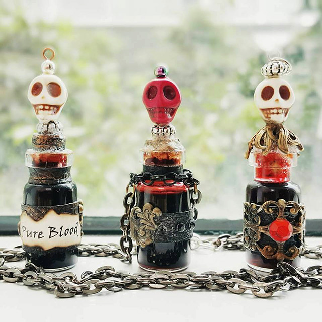 Spooky yet awesome - T.A.C Shop's earliest limited edition designs -- La Muerte Vials. Photo credit: T.A.C