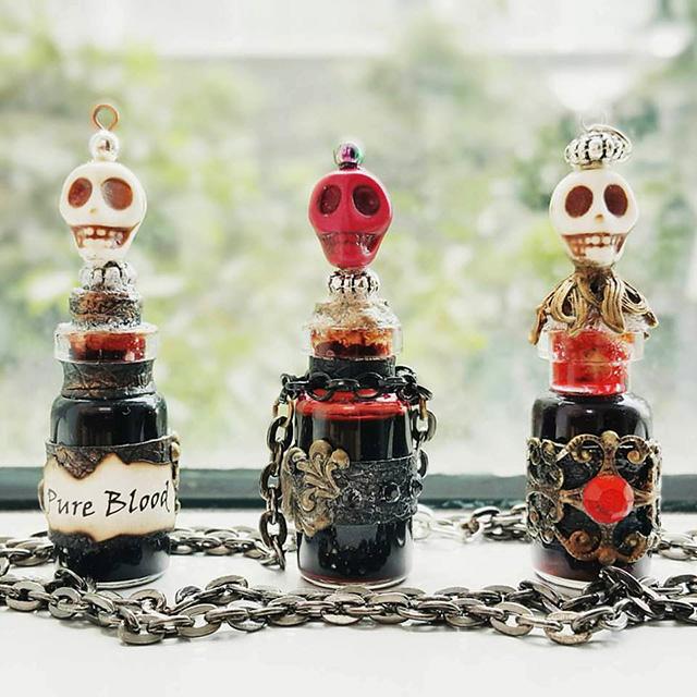 Spooky yet awesome - T.A.C Shop's earliest limited edition designs -- La Muerte Vials. Photo credit: T.A.C