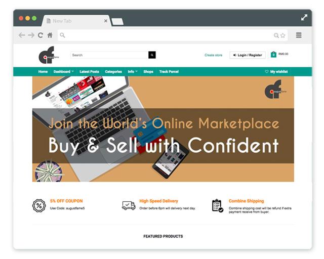 Website integration with Augustfame