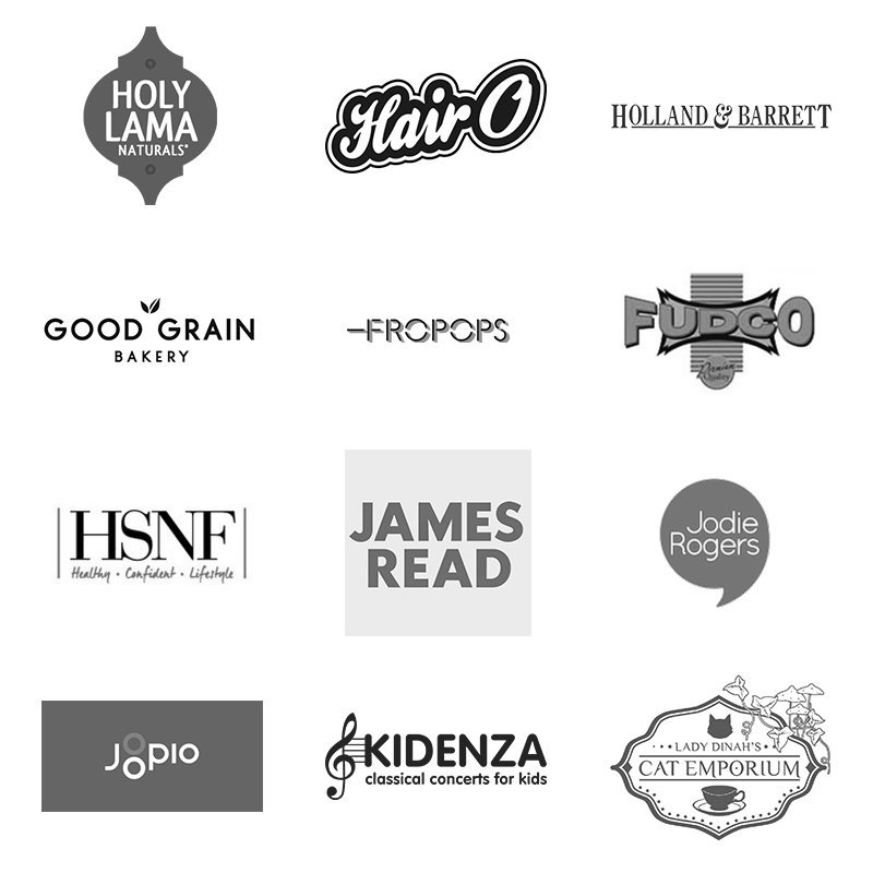 Pocket Creatives client logos for photography and video production