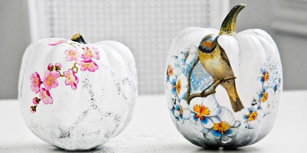 Decoupage Pumpkin, WHite Pumpkin, DIY, Free Stuff, Tutorial, Craft, How-to, Wedding Ideas, Centrepiece, Rustic, Halloween, Funkytime (4)