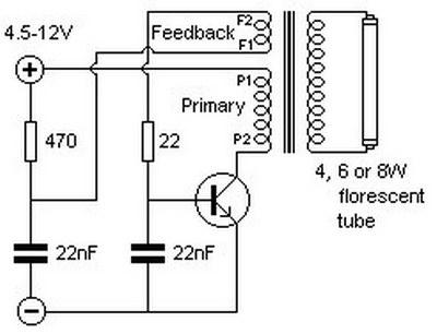 Alimentatore elettronico per neon 12 Volt