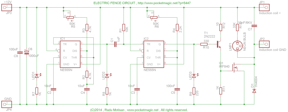 medium resolution of electric fence circuit diagram wiring diagram list electric fence circuit for perimeter protection pocketmagic electric fence
