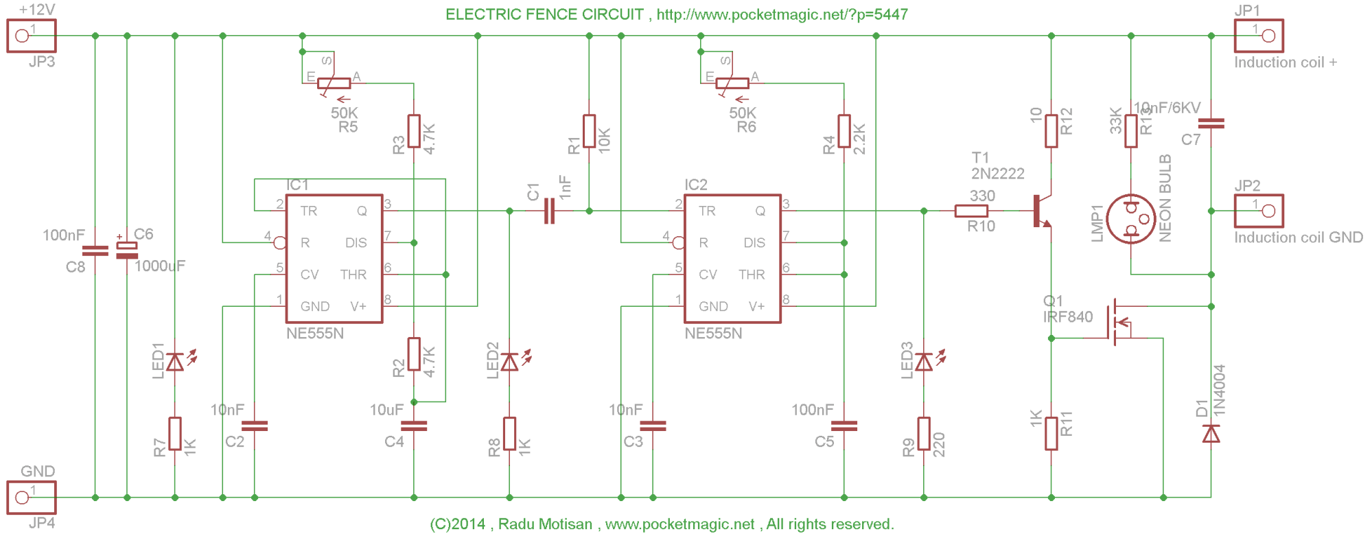 hight resolution of electric fence circuit diagram wiring diagram list electric fence circuit for perimeter protection pocketmagic electric fence
