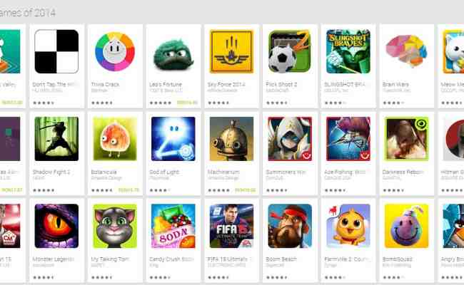 Google Play Now Features Best Of 2014 Lists For Apps And