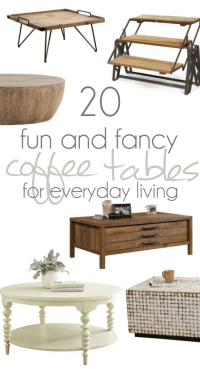 20 Fun and Fancy Coffee Tables for Everyday Living