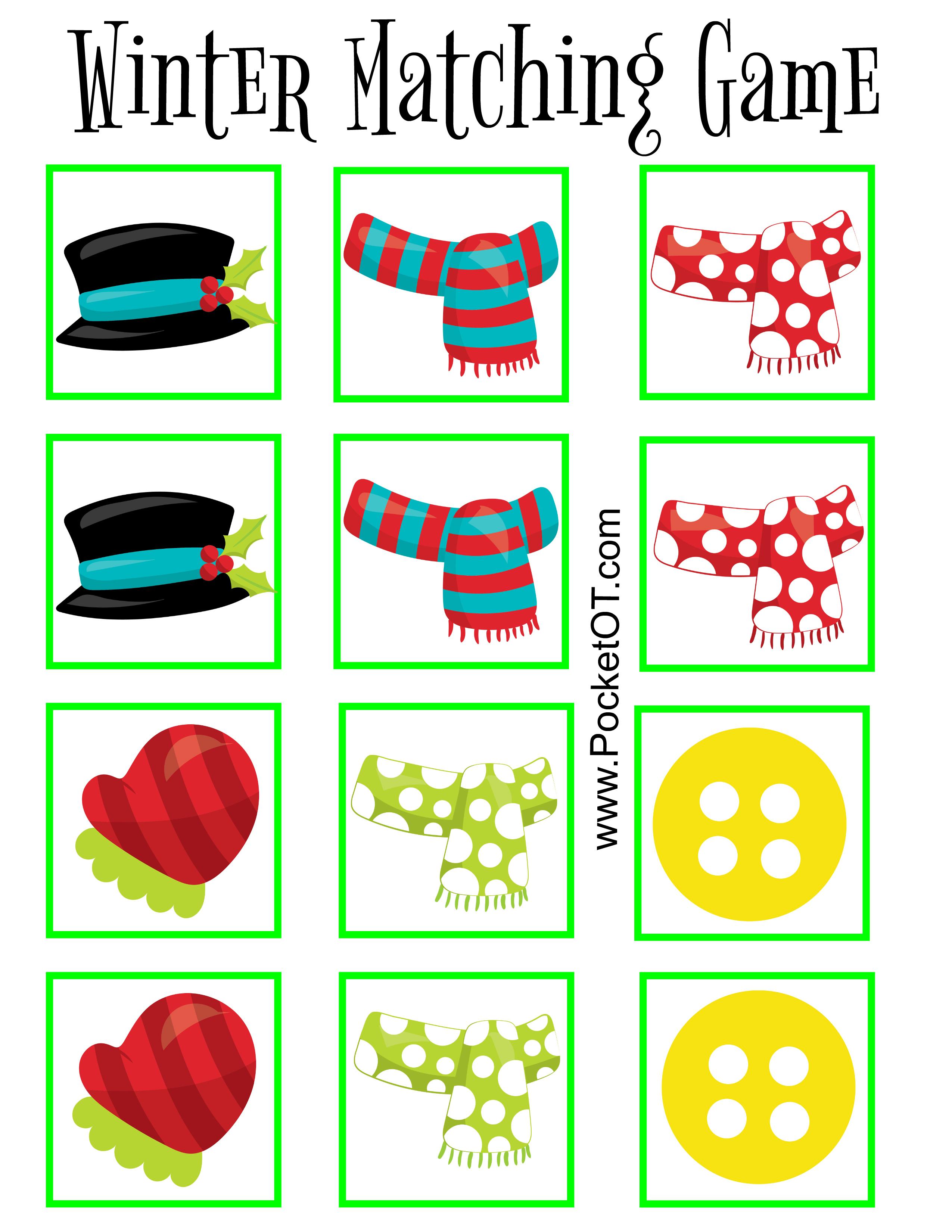 Winter Clothing Matching Game