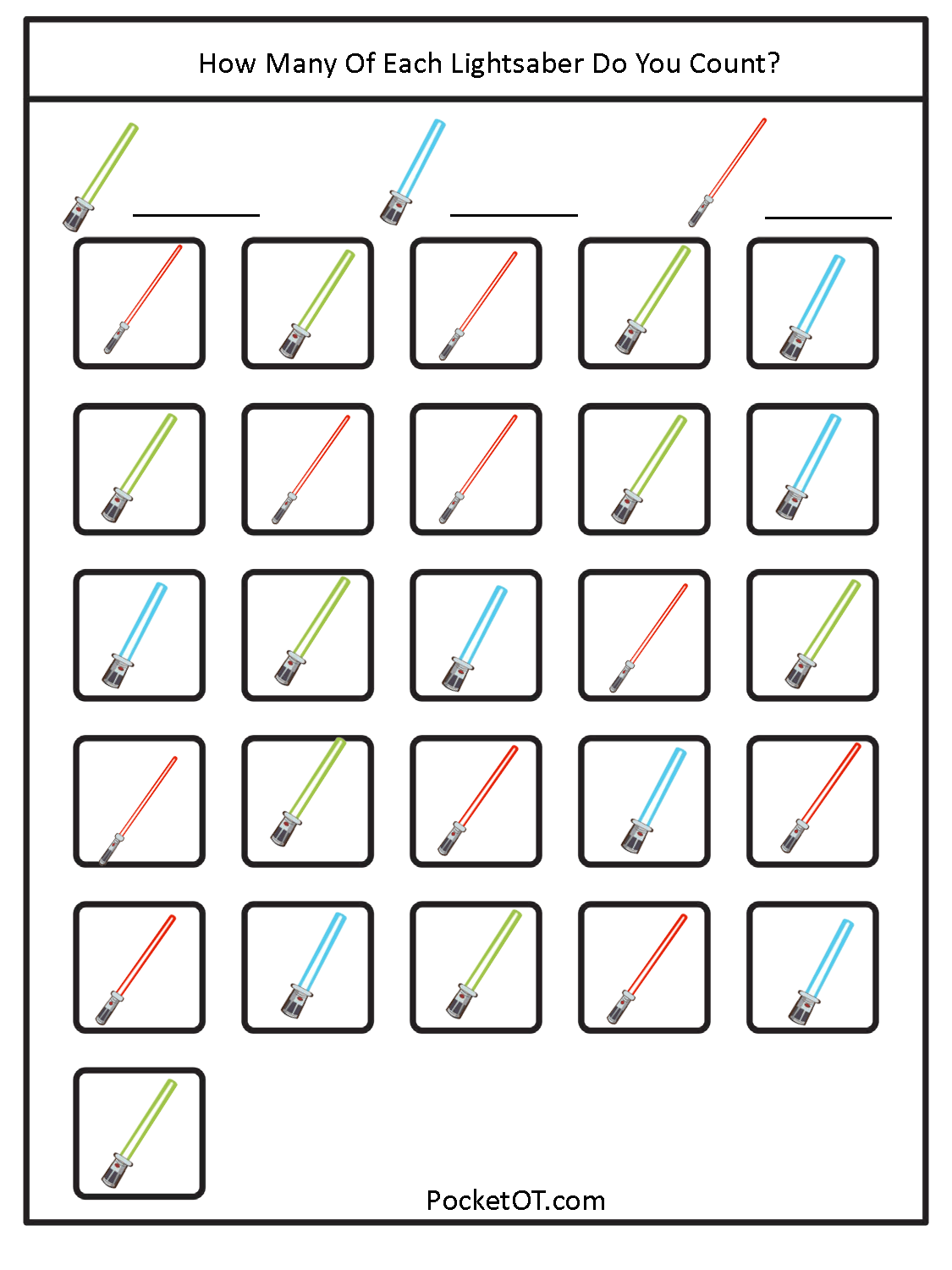Printable Visual Scanning Worksheet