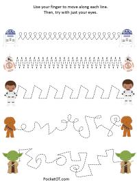 Star Wars Visual Perceptual Worksheet Pack   PocketOT