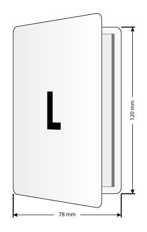 PocketPlaner-L mit Bemaßung