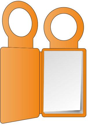 PocketPlaner mit Flaschenanhänger geöffnet