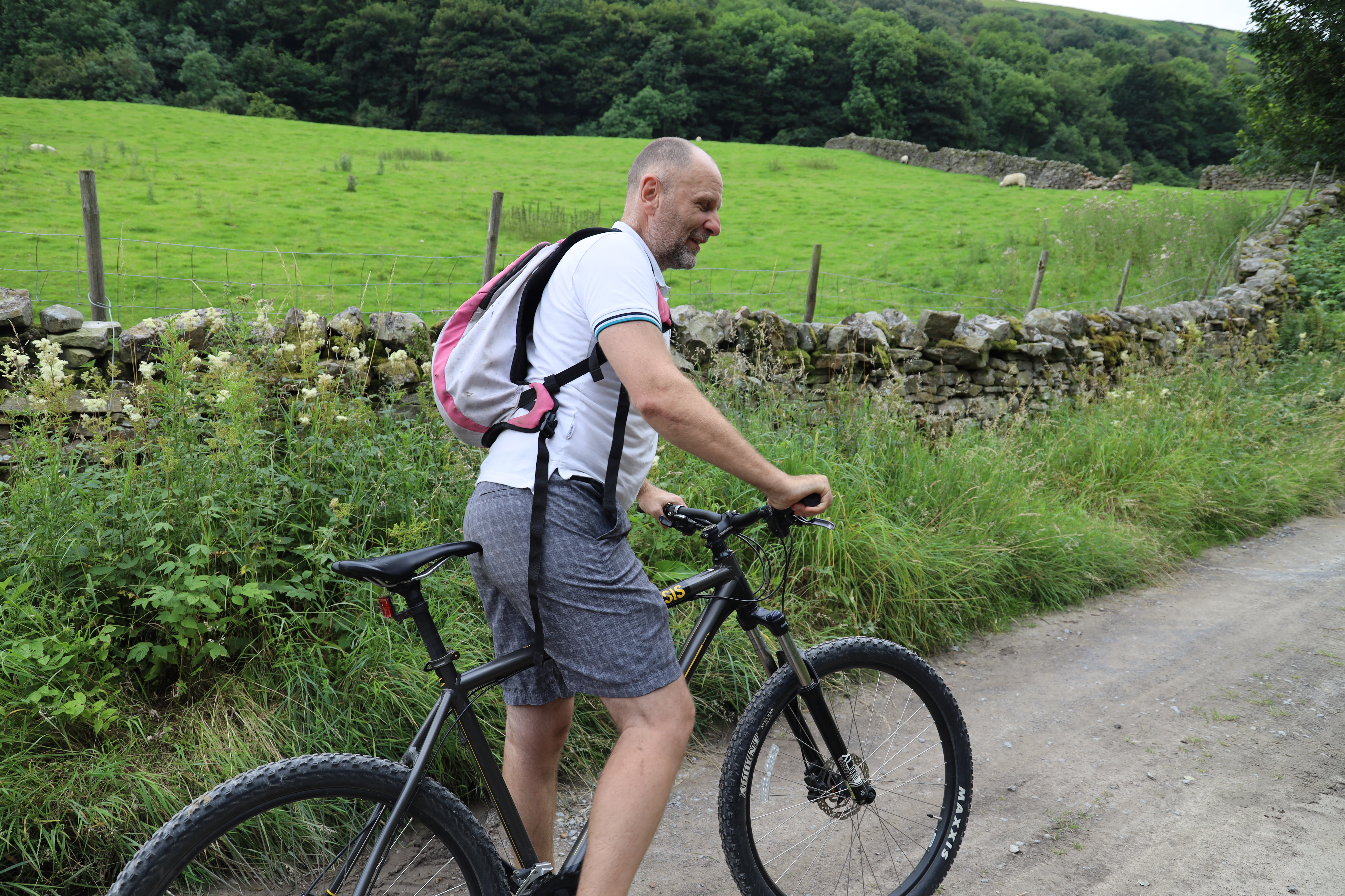 Mountain biker in the Dales, for Cycle the Dales promotional video production with Pocket Projects