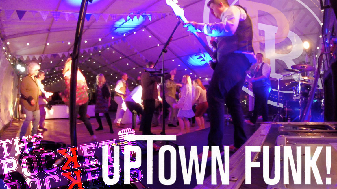 Thumbnail for the live music video Uptown Funk performed by Hampshire Wedding Band The Pocket Rockers