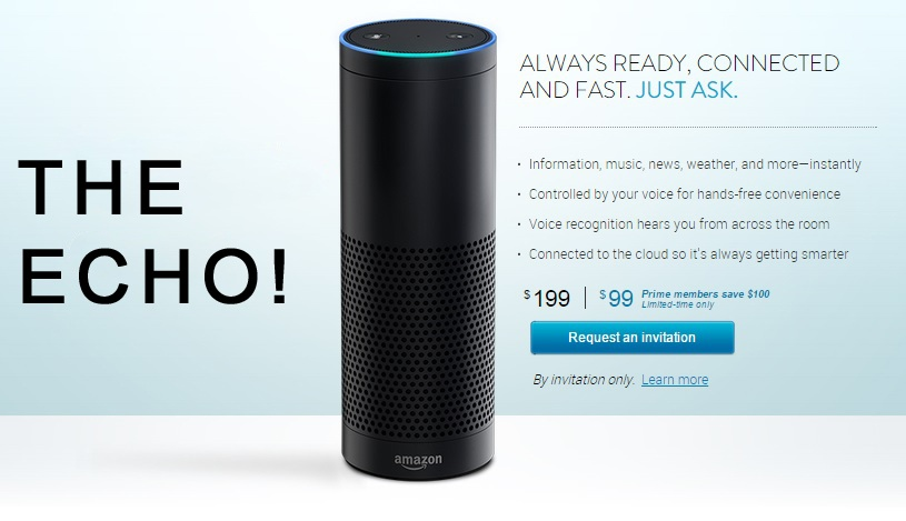 Amazon Echo personal home assistant available by invite only
