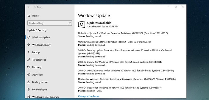 Windows 10 to give control back to the user for Windows updates