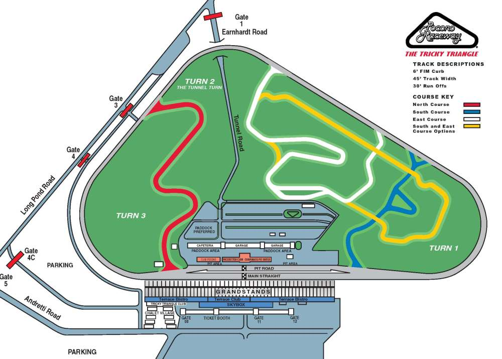 medium resolution of road course map