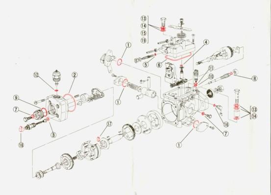 Diesel Kiki Fuel Injection Pump Repair Parts. Engine