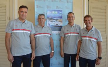 Serge Pastor, Christophe Ponset, le Maire Georges Marsan et Jacques Pastor. Photo courtoisie (c) DR