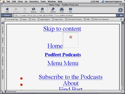 Text-Based Podfeet under OS9