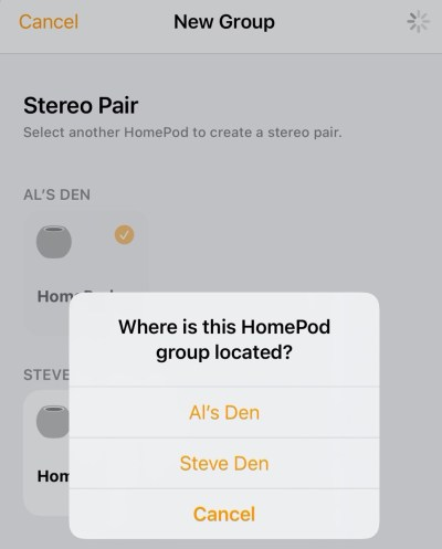 HomePod mini Stereo Pair Setup