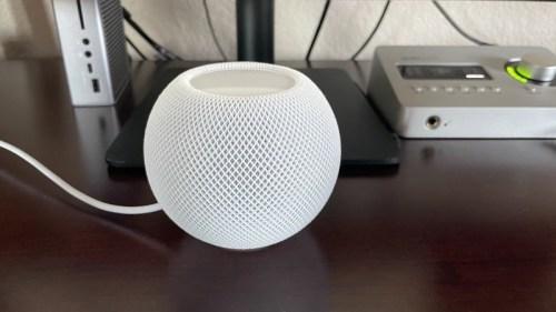 HomePod mini on my desk