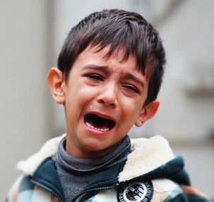 Child crying kid boy